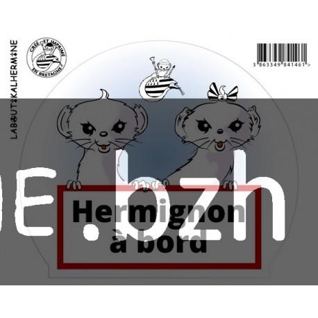 AUTOCOLLANT HERMIGNON A BORD
