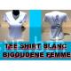 T-SHIRT BLANC BIGOUDENE NOIRE
