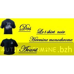 T-SHIRT NOIR HERMINE MONOCHROME