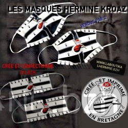 LOT DE 2 MASQUES HERMINE KROAZ DU