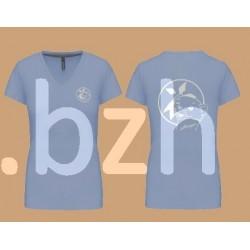 t-shirt-blue sky-femme-bigouden-blanche