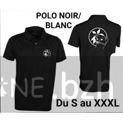 POLO NOIR HERMINE CLIN DOEIL BLANCHE